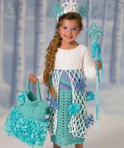 Ice Princess Crochet Dress