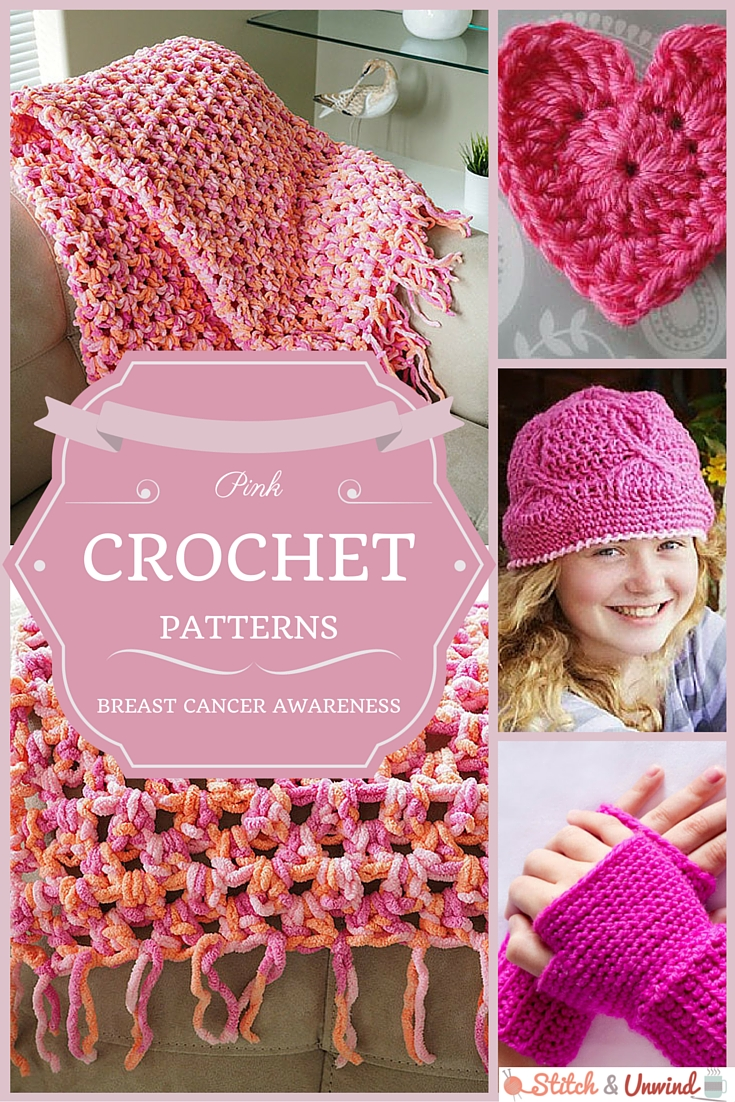 Support Breast Cancer Awareness: Pink Crochet Patterns - Stitch and ...