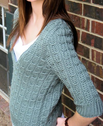 Women's Crochet Pullover