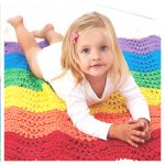 rainbow crochet afghan pattern