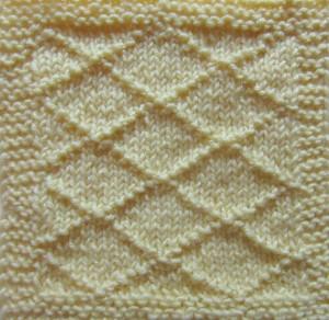 Diamonds on Stockinette, free #knitting sampler square pattern by @ucrafter on Stitch & Unwind by @allfreeknitting