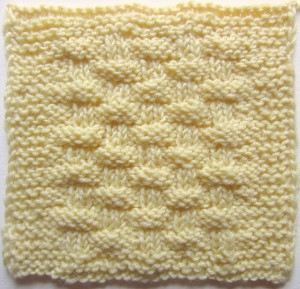 Lattice Crust, free #knitting sampler square pattern by @ucrafter on Stitch & Unwind by @allfreeknitting
