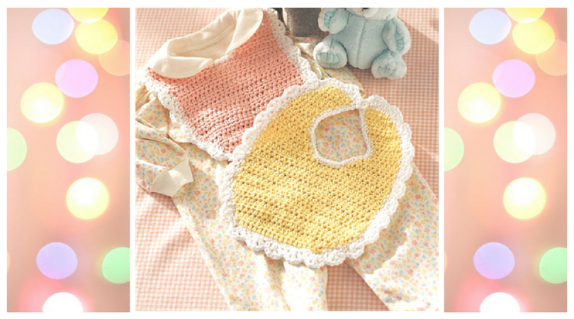 Cute As A Button Crochet Baby Bib Stitch And Unwind