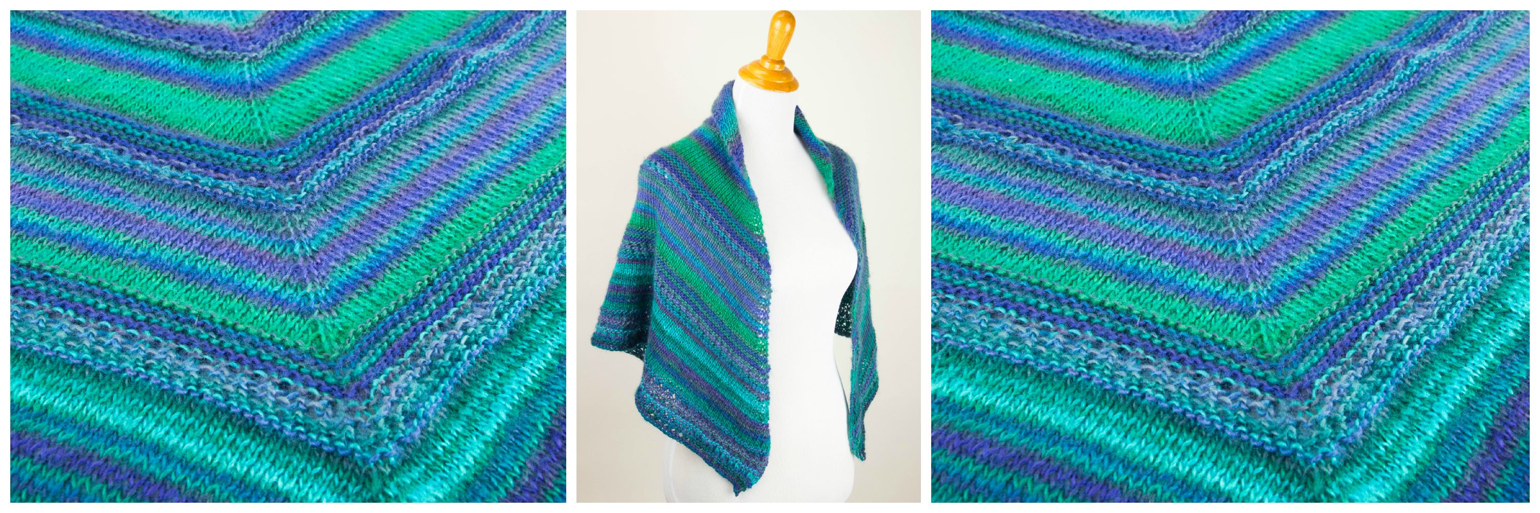 Free Knitting Pattern For Triangular Shawl : Printable Pattern: Free Knit Prayer Shawl Pattern - Stitch and Unwind