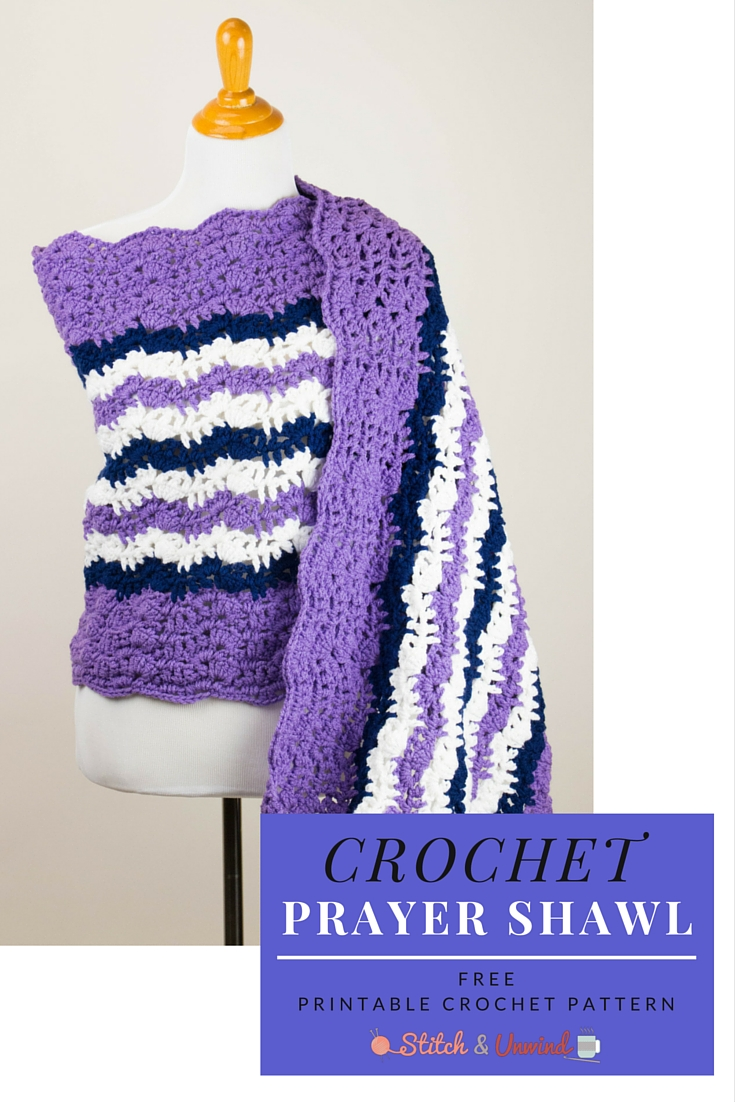 Crochet Prayer Shawl : Printable Pattern: Free Crochet Prayer Shawl - Stitch and Unwind