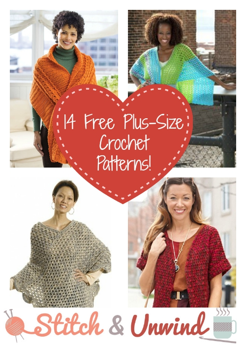 Free Crochet Patterns For Plus Size : 14 Easy Plus-Size Crochet Patterns - Stitch and Unwind