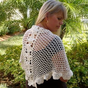 Lacy Floral Shawl