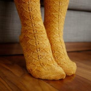 Gorgeous Ginkgo Socks