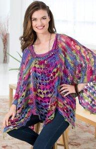 Mosaic Sunset Crochet Poncho
