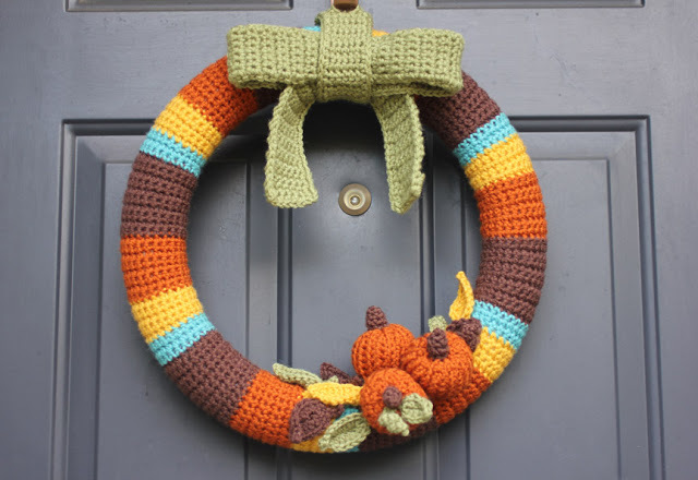 Fall Crochet Wreath