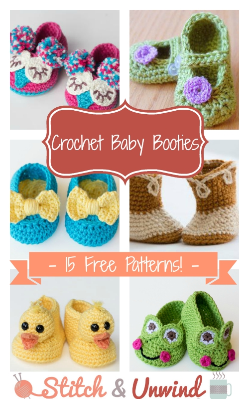 Crochet Baby Booties 15 Free Patterns