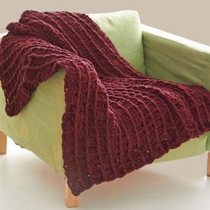 Redwood Waffle Crochet Afghan