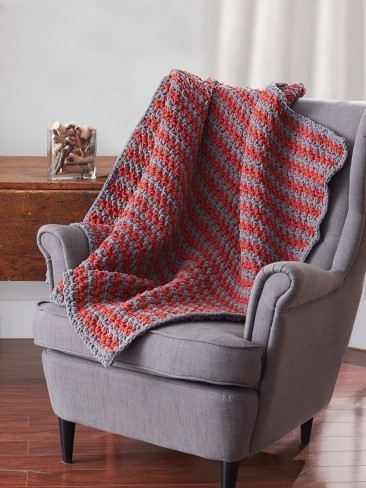 Easy Sawtooth Crochet Afghan