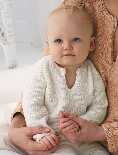 Classic Knit Baby Sweater