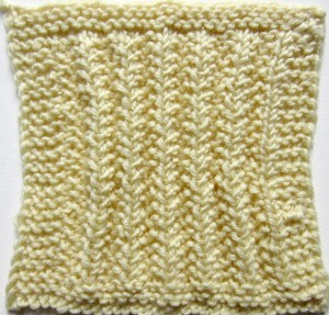 Mistake Rib Square Knitting Pattern by Marie Segares