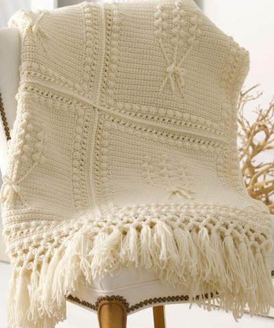 Aran Nosegay Crochet Blanket