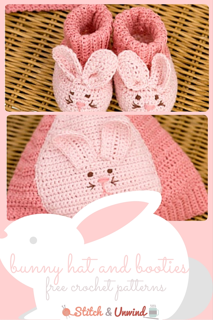 Free Pattern Friday: Crochet Baby Booties & Hat from Red Heart ...