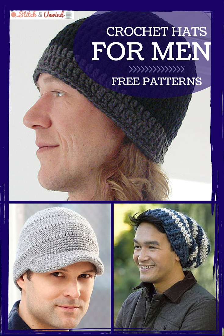 Crochet Hats for Men  Easy Crochet Patterns - Stitch and Unwind 0848e6c6e3a