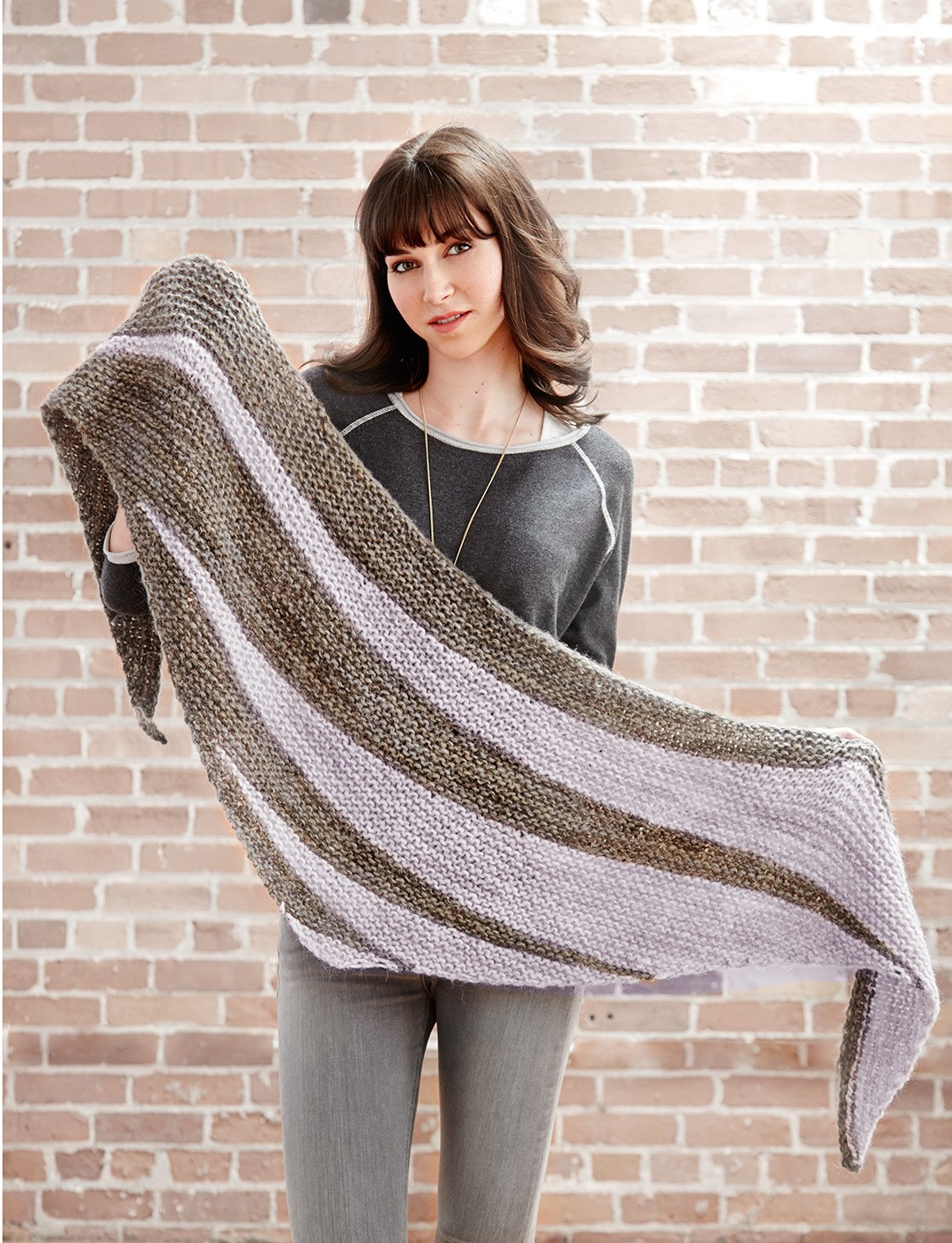 Free Triangle Scarf Knitting Pattern : Free Pattern Friday: Knit Shawl Pattern from Yarnspirations - Stitch and Unwind