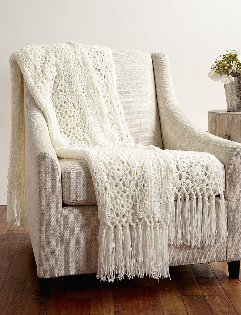 Free Crochet Pattern Irish Lace Scarf : Free Pattern Friday: Irish Lace Afghan from Yarnspirations ...