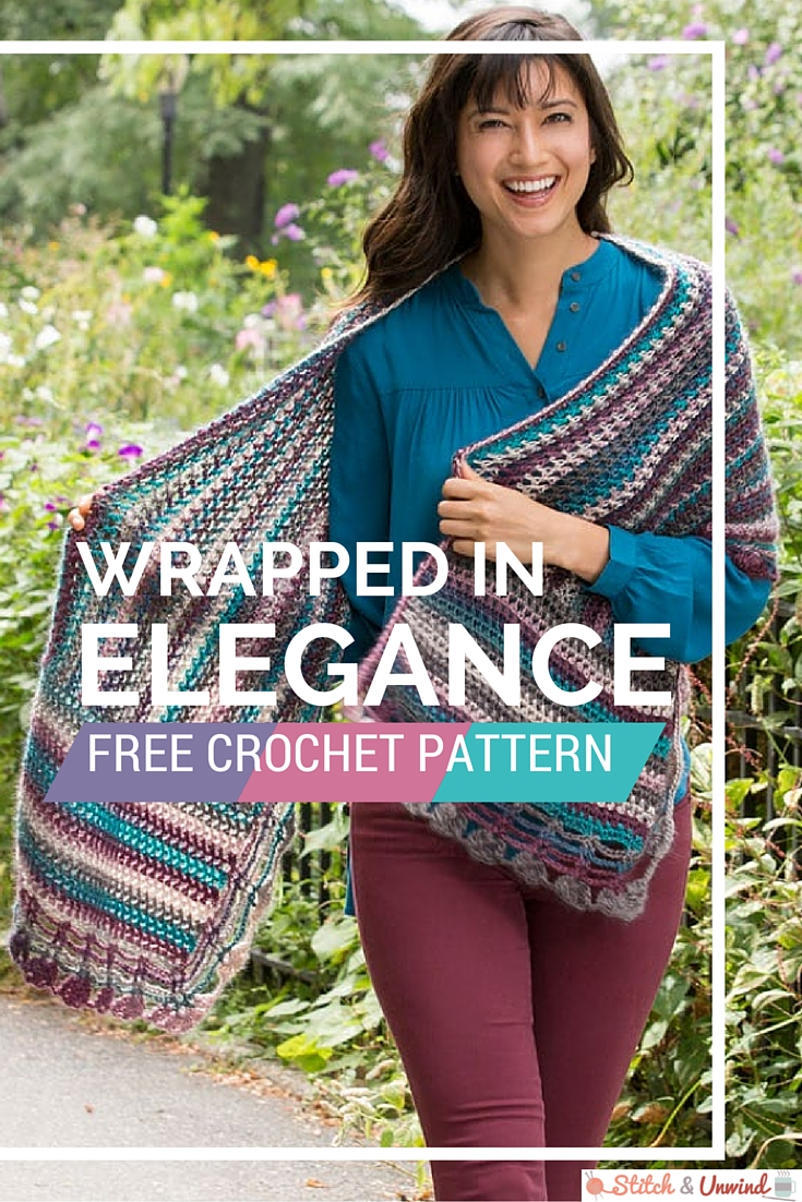 Free Pattern Friday Crochet Wrap Pattern From Red Heart Stitch
