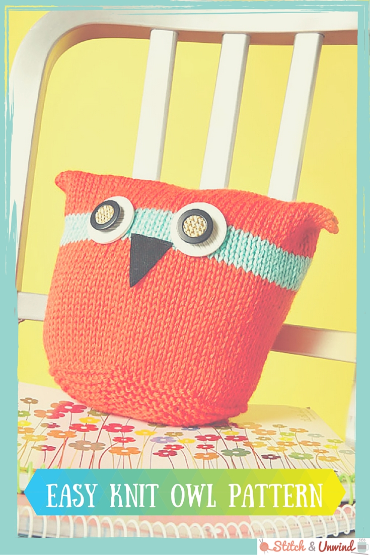 EASY KNIT OWL PAILLOW