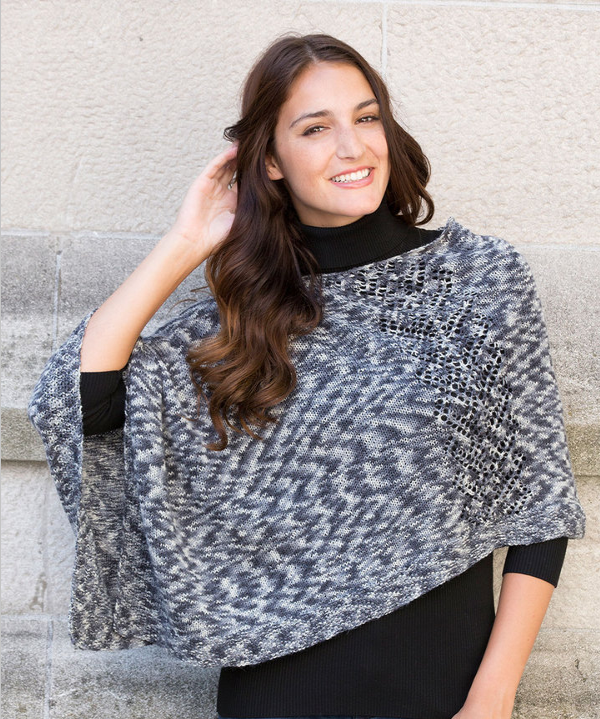 Free Pattern Friday Knit Poncho Pattern From Red Heart Stitch