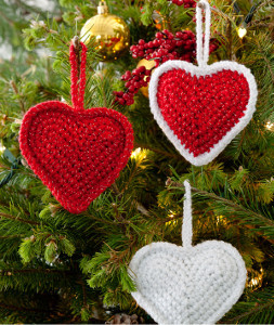 Crochet Heart Ornaments