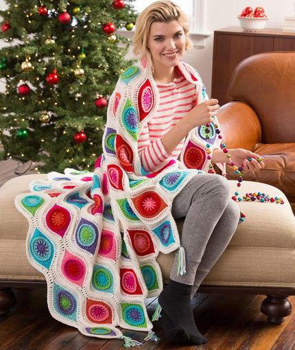 Ornament Crochet Throw Pattern