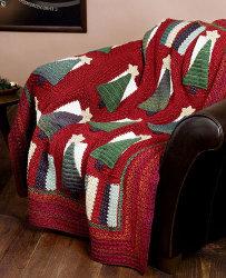 Classic Tree Holiday Afghan