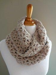 Classic Crochet Infinity Scarf