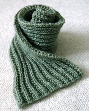 Easy Mistake Stitch Knit Scarf
