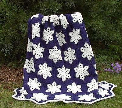 Snowflake Crochet Afghan Pattern