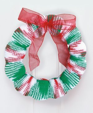 Season's Greetings Knitted Wreath
