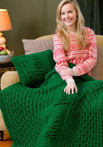 Evergreen Crochet Afghan