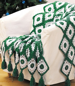 Green Crochet Afghan