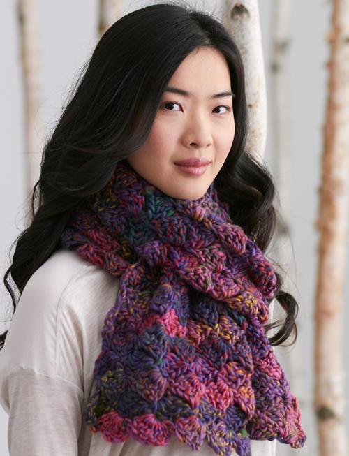 Aurora Borealis Crochet Scarf