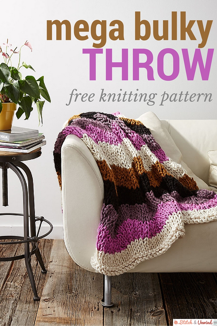 mega bulky throw pattern