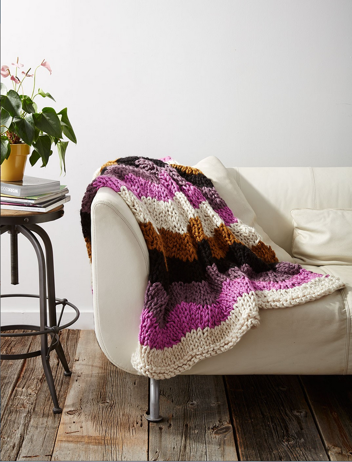 knit throw pattern