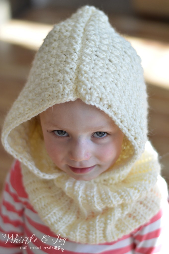 Cozy Cute Toddler Hooded Cowl Crochet Pattern