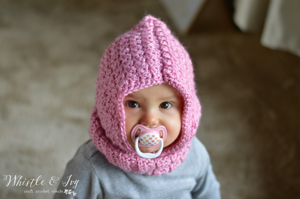 Crochet Baby Cowl Pattern Free : Cozy Cute: Toddler Hooded Cowl Crochet Pattern - Stitch ...
