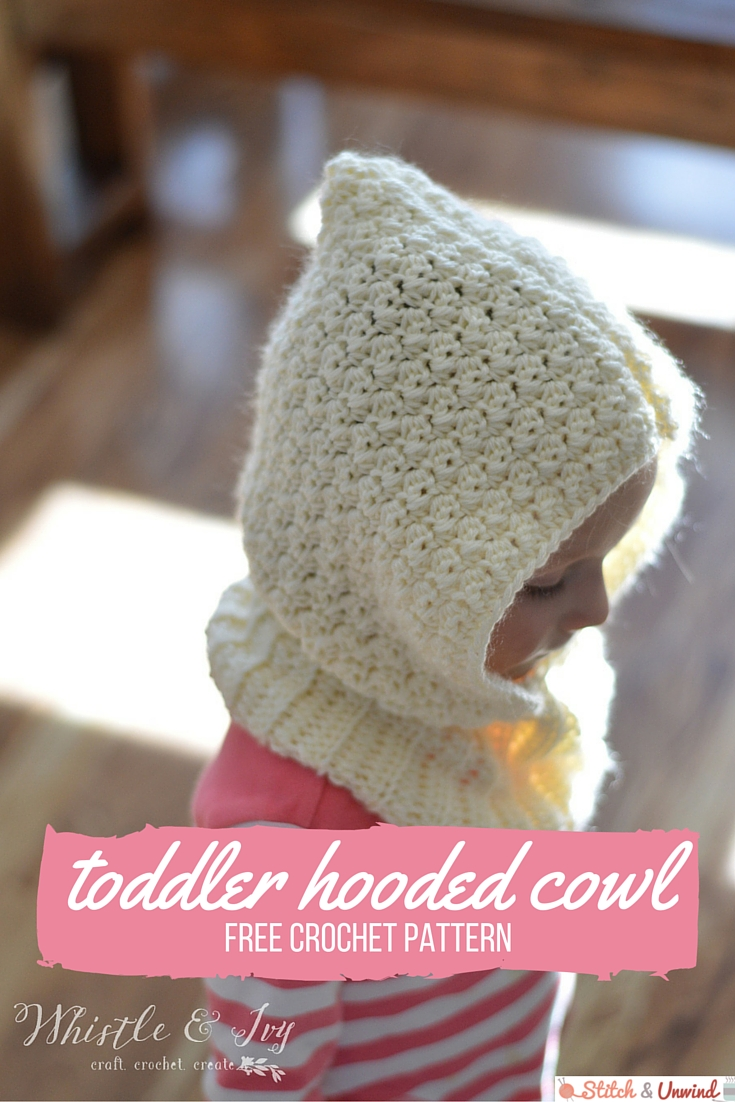 toddler hooded cowl crochet pattern