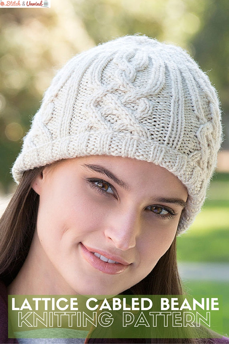 cabled knit beanie pattern