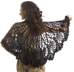 Pineapple Lace Crochet Shawl