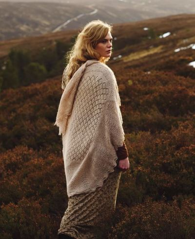 Among the Moorlands Knit Wrap