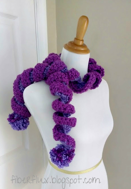 Grape Jelly Crochet Scarf
