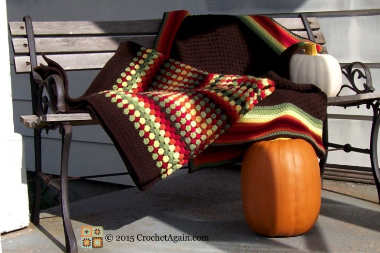 Granny Rectangle Crochet Throw