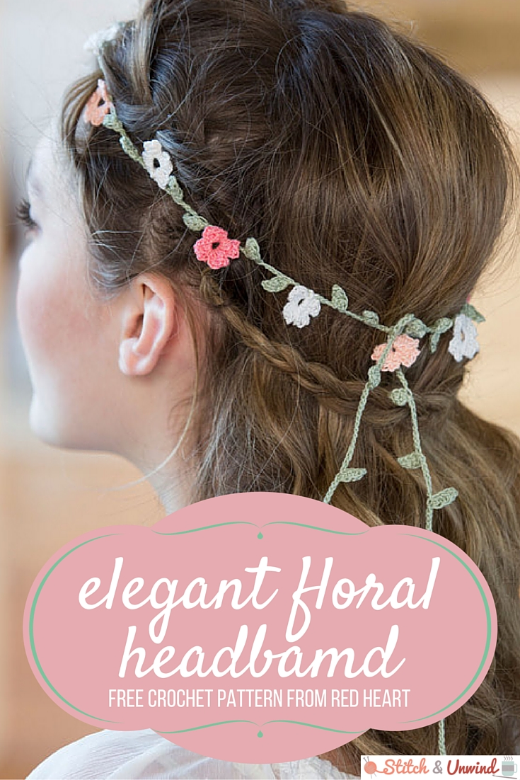 Free Pattern Friday Elegant Floral Headband From Red Heart