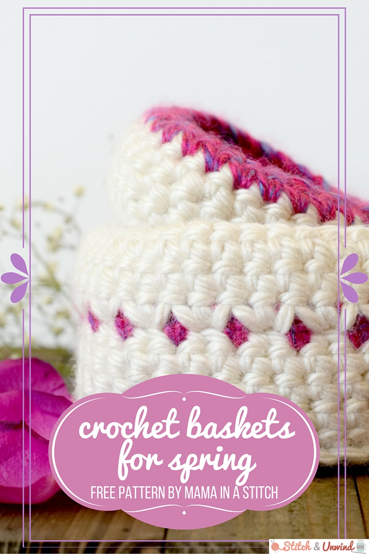 Crochet Baskets for Spring