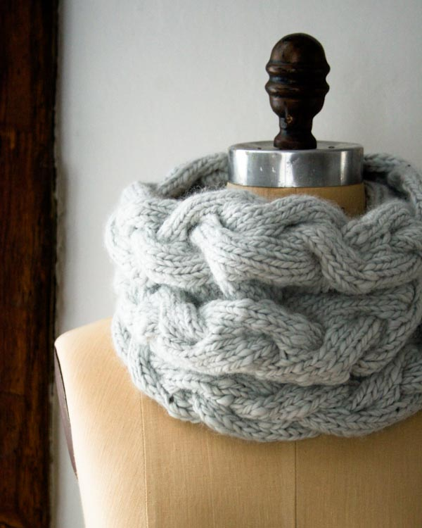 Braided Knit Cowl Pattern